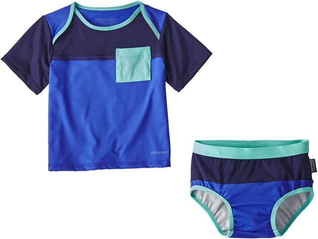 Patagonia Little Sol Swim Set Infants Imperial Blue
